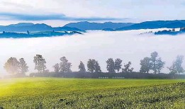 ??  ?? Eindrucksvolle Landschaft: Das Ybbstal im Nebel
