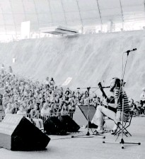 ??  ?? Taylor hits the stage at the Sidney Myer Music Bowl in Melbourne, 1974.