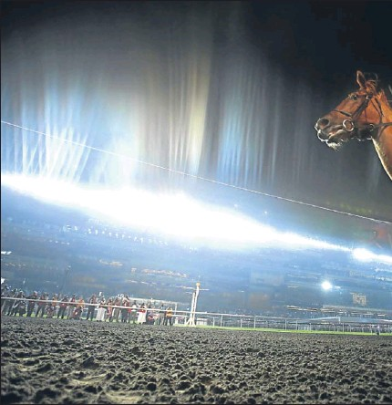 ?? Picture: Getty Images. ?? Silvestre De Sousa celebrates riding African Story to victory in the Dubai World Cup at the Meydan Racecourse on Saturday.