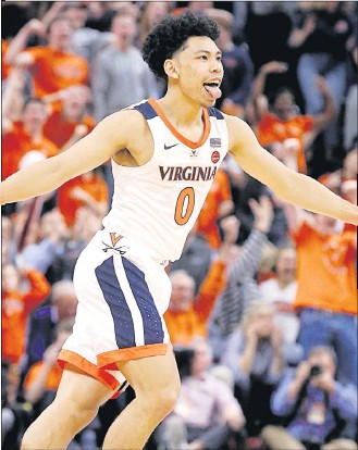 ?? JOE MAHONEY/TIMES-DISPATCH ?? Kihei Clark is expected to play a significant role in a more potent Virginia offense this season.