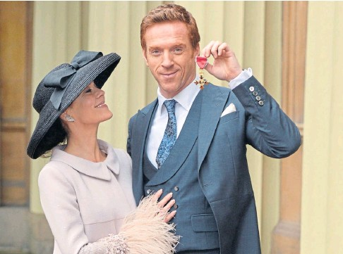 ??  ?? LOVE LOST: Damian Lewis led the tributes after his wife Helen Mccrory died on Friday at the age of 52.