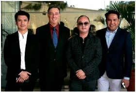 ??  ?? (From left) Taal Vista Hotel marketing communications head Michael Anthony Sagaran, Taal Vista Hotel general manager Richard Gamlin, Pepper Teehankee and SMHCC vice president business development Neil Rumbaoa.