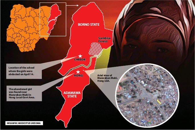 abandoned chibok girl four months pregnant