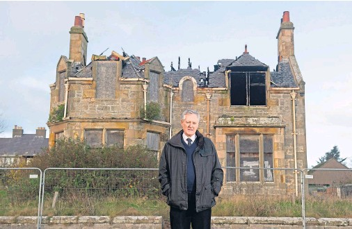 ?? Photograph by Jason Hedges ?? NEGLECTED: Councillor John Cowe has campaigned for years for Brae Lossie to be brought back into use.