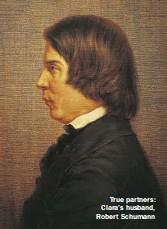 ??  ?? True partners: Clara's husband, Robert Schumann