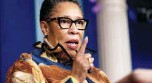 ?? AP PHOTO/ANDREW HARNIK ?? Housing and Urban Development Secretary Marcia Fudge speaks at a news briefing at the White House on March 18.