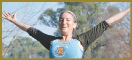 ??  ?? PEACE AND JOY: Cate Geard (pictured) says the life lessons learnt from yoga translate into all walks of life.