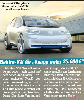 Pressreader Heute Wien Ausgabe 2018 09 26 Elektro Vw Fur