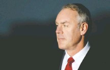 ?? ASTRID RIECKEN FOR THE WASHINGTON POST ?? Interior Secretary Ryan Zinke is the subject of multiple probes, and Interior's inspector general referred one of its inquiries to the Justice Department, two senior administration officials said.