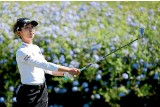 ?? GETTY IMAGES ?? Lydia Ko plays her tee shot on the 16th hole of the second round of the Lotte Championship, where she sits in second place, two shots off the lead.