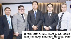 ??  ?? (From left) KPMG RGM & Co. assistant manager Emerson Royeca, partner lawyer Leonardo Ben Robediso, partner lawyer Jallain Manrique, lawyer Michael Guarin and senior manager Paul Afable