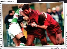 ??  ?? Memory struggles: Shaw scores a try in 1999 for Glasgow (left) but he does not recall much of his playing days h b