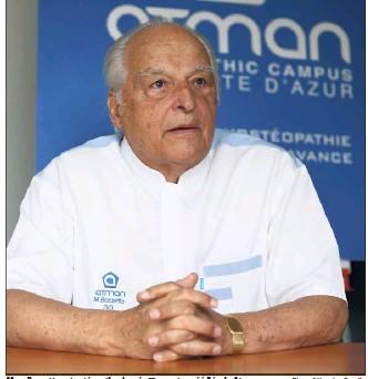 ?? Photo Sébastien Botella ?? Marc Bozzetto est ostéopathe depuis  ans et a créé l'école Atman.