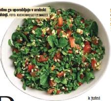 ?? FOTO: KUCHERAV/ GETTY IMAGES ?? Obilno ga uporabljajo v arabski kuhinji.
