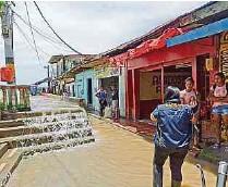 ?? FOTO: CORTESÍA DAGRAN ?? Nechí, en el Bajo Cauca, ha sido uno de los municipios afectados por las lluvias en Antioquia, según el Dagran.