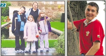 ?? Pictures: Nikki Burrows ?? Rhys Coleman, far right, who died of Sudden Arrhythmic Death Syndrome, as a child, pictured with his mum Nikki and his sisters