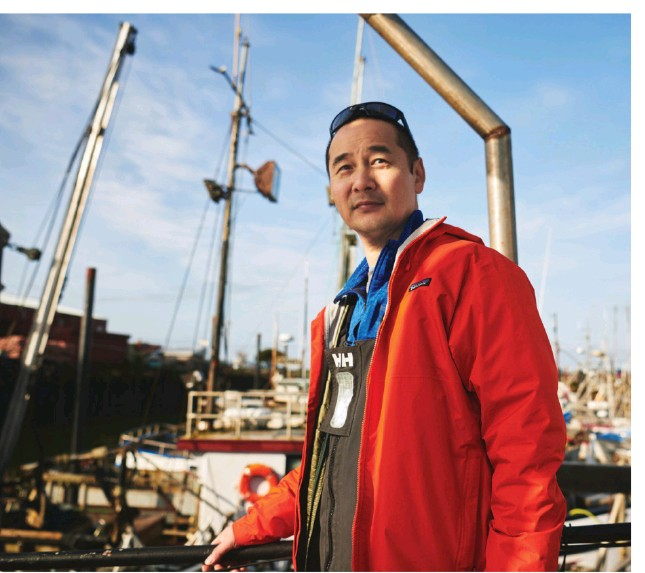 ??  ?? In addition to tuna and salmon, fisherman Jeff Wong says his customers also love when he offers more underutilized species like octopus and mackerel.