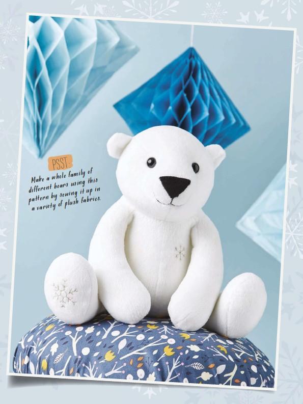 Pressreader Simply Sewing 2016 11 30 Soft Toy Polar Bear
