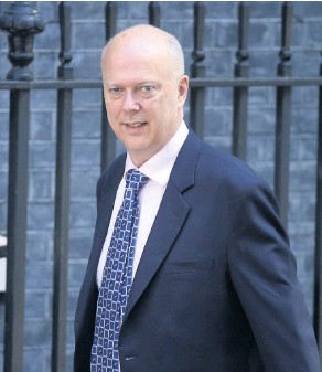 ??  ?? Former Secretary of State for Transport, Chris Grayling. See Question 3