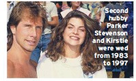 ??  ?? Second hubby Parker Stevenson and Kirstie were wed from 1983 to 1997