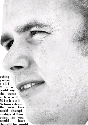 ??  ?? Driving on... Dan Wheldon, the runaway IndyCar champion, is now in talks with Formula One