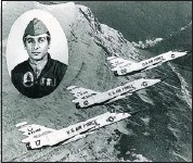 ??  ?? Lt. Dave Denning was flying in formation with two other F106s when his plane crashed at an Alberta ranch in 1977.