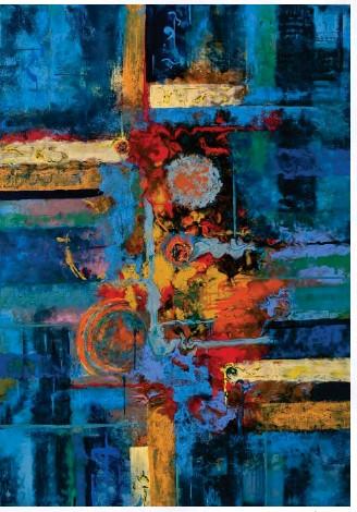 ?? © Loredana Lupu. All rights reserved. ?? Below: ' Atlachinoli' - acrylic and oil pastel on canvas.