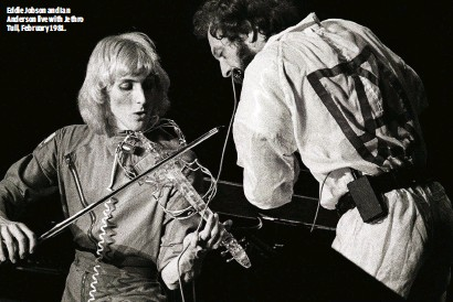 ??  ?? EDDIE JOBSON AND IAN ANDERSON LIVE WITH JETHRO TULL, FEBRUARY 1981.