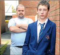 ??  ?? Tim Walton defends his son, Daniel, who refused to stand up when his headmaster entered the class