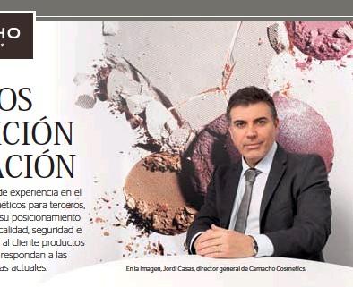 ??  ?? En la imagen, Jordi Casas, director general de Camacho Cosmetics.
