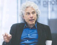 ?? VICTOR J. BLUE/BLOOMBERG ?? Steven Pinker, author and Harvard professor, has come under attack by a group of graduate students and lecturers for his views.