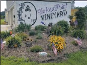 ?? PHOTO COURTESY DORIS BEHNKE ?? Turkey Point Vineyard in North East is opening a tasting room at the vineyard starting July 23. It will be open every Friday and Saturday 5-8 p.m. through the summer.