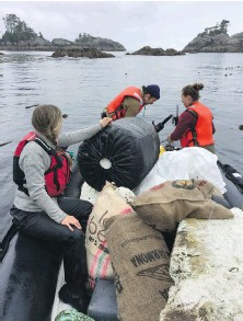 ?? SMALL SHIP TOUR OPERATORS ASSOCIATION OF B.C. ?? Tour operators have been helping with debris cleanup along B.C.'s coastline.