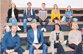 ??  ?? Бизнес-команда Юлии Грицук и её наставники.