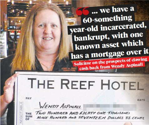 ??  ?? Wendy Aspinall (main) is serving time in a Townsville prison; former employer Down to Earth Demolitions director Rohan Murphy (inset) has filed a creditor's petition.