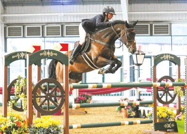 ??  ?? Emma Crawford and Dukes Of Hazzard scoop 1.30m (pictured) and 1.35m victories by clear margins