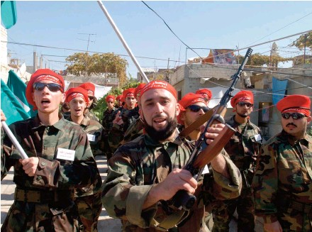 ??  ?? An Ansar Allah parade to mark Jerusalem Day in Ain al-Hilweh.