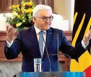 ??  ?? Deutschlands Präsident Steinmeier