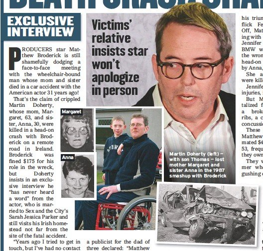 PressReader - Globe: 2018-10-19 - MATTHEW BRODERICK DEATH CRASH SHAME!