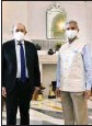 ?? PTI ?? External Affairs Minister S Jaishankar with Minister for Europe and Foreign Affairs of France Jean-Yves Le Drian during a meeting, in New Delhi