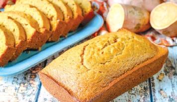 ??  ?? Sweet potato- included bread