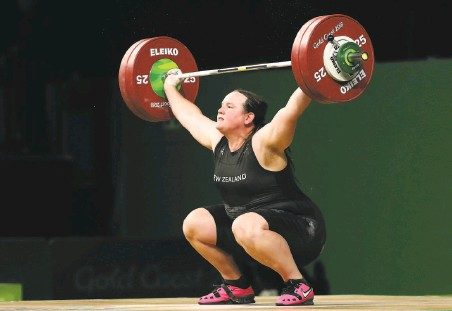 ?? Mark Schiefelbein / Associated Press 2018 ?? In Tokyo, New Zealand weightlifter Laurel Hubbard will become the first transgender athlete to compete at the Olympics.