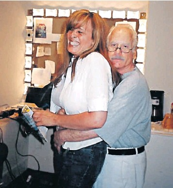Richard Dreyfuss Pictured With Beth In His Dressing Room After She And A Friend Went Backstage To Meet Him In 2004