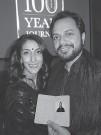 ??  ?? Jessie Lehail with Mo Dhaliwal at a gala where his facsimile passports commemorated the Komagata Maru incident.