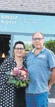 """?? FOTO: JUBL ?? 2019 eröffneten Martina und Andreas Senz das """"Kreuz & quer""""in Bopfingen. 2020 wagten sie den Schritt über die Landesgrenze."""