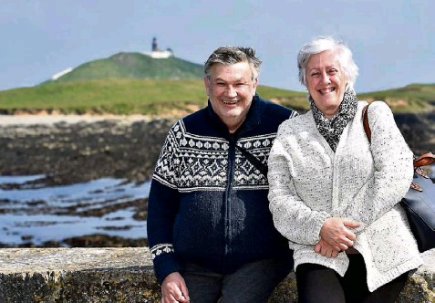 ?? Picture: Dan Linehan ?? Kieran and Patricia Murphy, Aghada enjoying the freedom of being able to travel to Ballycotton, Co Cork.