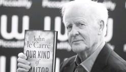 ??  ?? Джон Ле Карре на презентації книги «Толковий зрадник», 2010 рік.