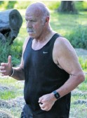 ??  ?? Leo Mattioda enjoys the challenging 5km route