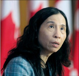 ?? CP PHOTO ADRIAN WYLD ?? Chief Public Health Officer Theresa Tam speaks during a technical briefing on the COVID pandemic in Canada on Jan. 15 in Ottawa.