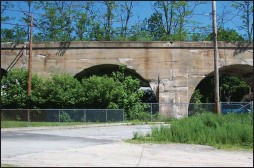 ?? Photo courtesy Mass. DCR ?? The Blackstone Viaduct, which dates back to the 19th century, was to be demolished as part of a bike path project, but now planners say the structure can be saved and incorporated into the project.